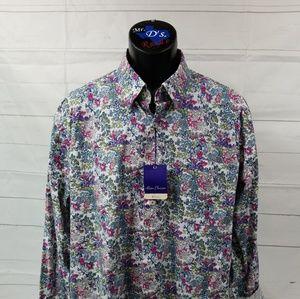 Alan Flusser XL Paisley Corral Long Sleeve